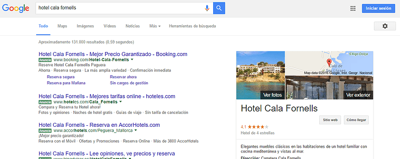 Google my business for small hotels