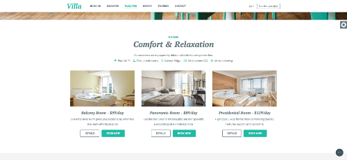 rooms by website