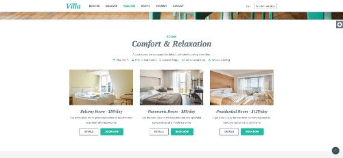 Παρουσίαση  δωματίου μέσω ιστοσελίδας