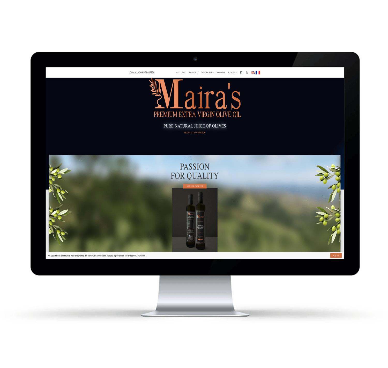 Κατασκευή Ιστοσελίδας για εταιρία ελαιολάδου θεσσαλονίκη
